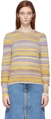 Marc Jacobs Purple and Yellow Lurex Striped Sweater