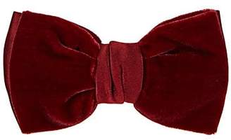 Lanvin Men's Double-Layer Velvet & Satin Bow Tie - Red
