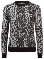 Saint Laurent Leopard Lurex Mohair Sweater
