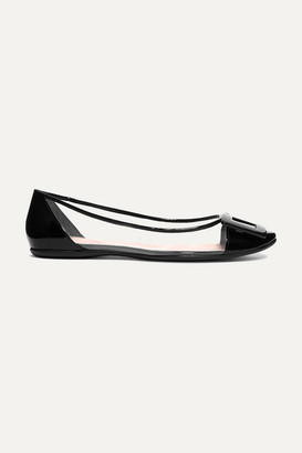 Roger Vivier Gommette Pvc And Patent-leather Ballet Flats - Black