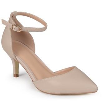 Brinley Co. Womens Matte Ankle Strap Pumps