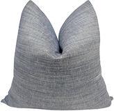 One Kings Lane Vintage Denim Blue Chambray Pillow, 24 x 24