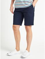 John Lewis Spot Print Casual Chino Shorts, Navy