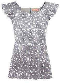 Aqua Girls' Star Print Velvet Dress, Big Kid - 100% Exclusive