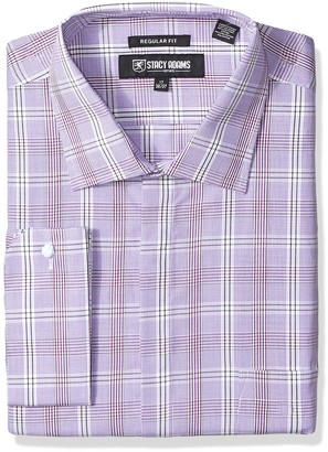 Stacy Adams Men's Big and Tall Big & Tall Window Pance Check Classic Fit Dress Shirt