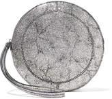 Jerome Dreyfuss Popoche O Metallic Cracked-leather Clutch