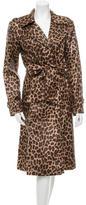Cassin Leopard Print Trench Coat
