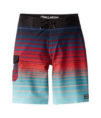 Billabong Kids All Day Stripe Pro Boardshorts (Big Kids) (Blue) Boy's Swimwear