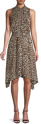 Rachel Roy Asymmetrical Leopard-Print Dress