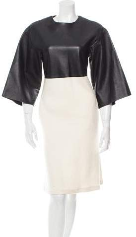 Derek Lam Leather & Wool Dress w/ Tags