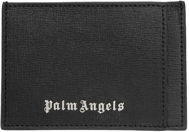 Palm Angels Black Leather Card Holder
