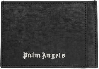 Palm Angels Black Leather Card Holder