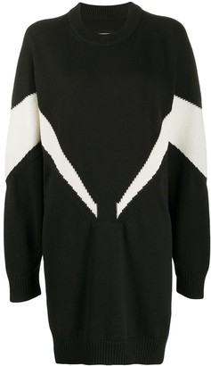 MM6 MAISON MARGIELA Intarsia-Knit Jumper Dress