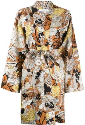 Roseanna Foliage Print Kimono