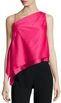 Donna Karan One-Shoulder Asymmetric Top, Peony