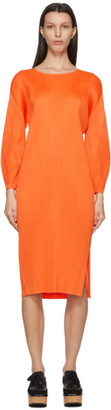 Pleats Please Issey Miyake Orange Monthly Colors January Dress