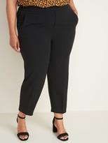 Old Navy Mid-Rise Secret-Slim Pockets Plus-Size Pull-On Straight Pants