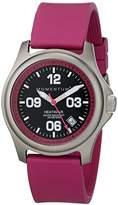"Momentum Women's 1M-SP17F1F ""Heatwave"" Titanium Watch with Pink Rubber Band"