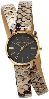 Vince Camuto Snake-print-band Wraparound Watch