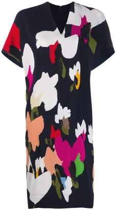 Escada abstract print shift dress