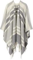 Banana Republic Stripe Italian Wool-Blend Poncho