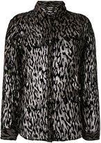 The Kooples sheer animal print blouse