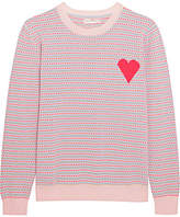 Chinti and Parker Jacquard Heart Cashmere Sweater - Pink