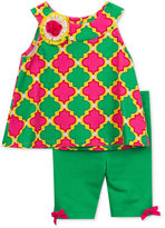 Rare Editions 2-Pc. Cotton Tile-Print Top & Shorts Set, Baby Girls (0-24 months)