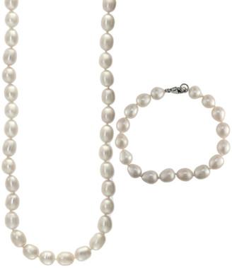 Effy Fine Jewelry Silver 8.5Mm Pearl Bracelet & Necklace Set