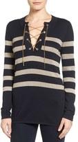 MICHAEL Michael Kors Women's Chain Lace-Up Tunic Sweater