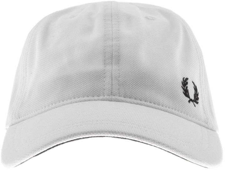 Fred Perry Pique Constructed Baseball Cap White