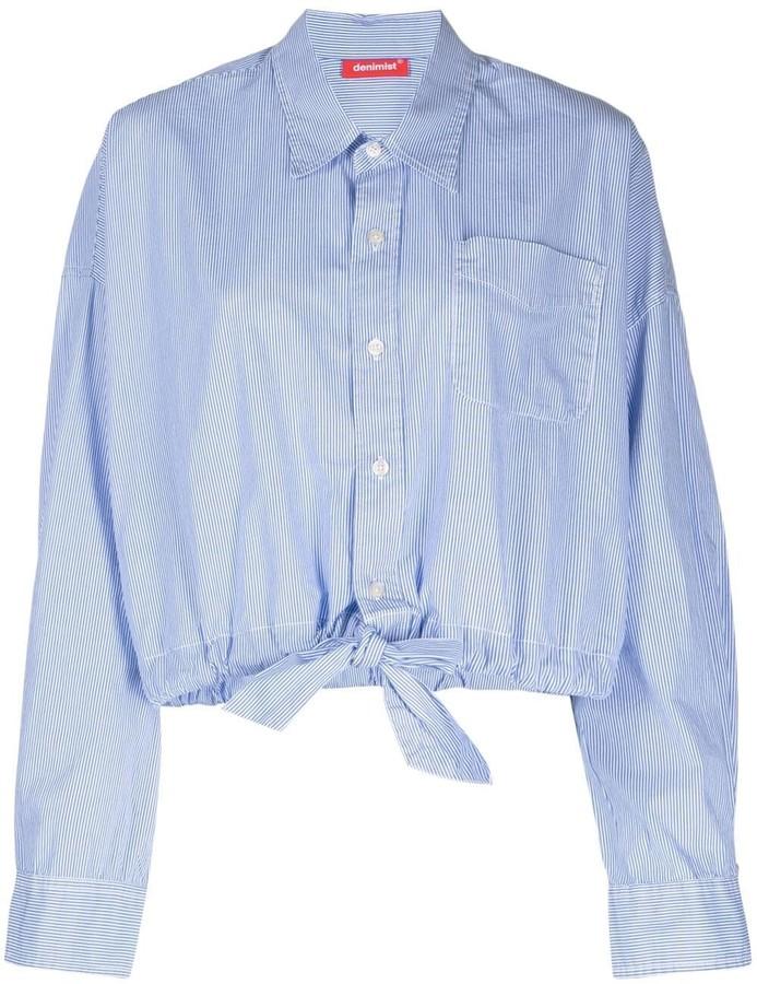 Denimist Striped Cropped Shirt