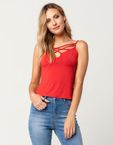 Hip Loopy Cross Front Womens Tank