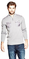 GUESS Men's Henn Quarter-Zip Sweater
