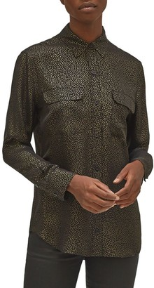 Equipment Signature Silk Georgette Button-Up Shirt