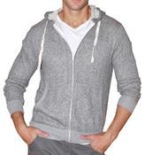 191 Unlimited Men's Grey Terry Cloth Hoodie
