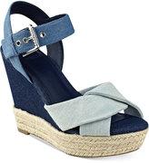 GUESS Women's Sanda Wedge Sandals Women's Shoes