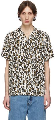 Wacko Maria White and Brown Hawaiian Shirt