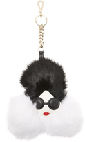 Alice + Olivia Stace Face Fur Keychain Charm