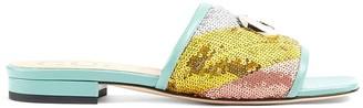 Gucci Sequin Slide Sandals