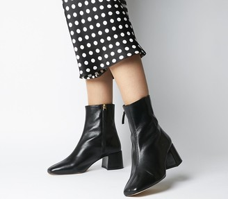 Office Aloof Smart Boots Black Leather