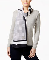 MICHAEL Michael Kors Windowpane Stripe Oblong Scarf