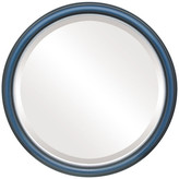 """The Oval And Round Mirror Store Hamilton Framed Round Mirror in Rosewood with Silver Lip, 25""""x25"""""""