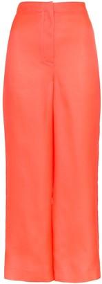 Roksanda Petra High-Waisted Silk Trousers