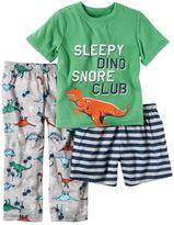 Carter's Boys 4-8 Dinosaur 3-Piece Pajama Set
