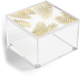 Deny Designs Marta Olga Klara Gold Palm Leaves Acrylic Box