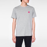 Paul Smith Men's Grey Marl Organic-Cotton Flocked PS Logo T-Shirt