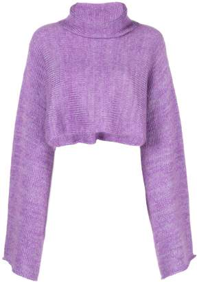 Sally LaPointe cropped bell-sleeves jumper