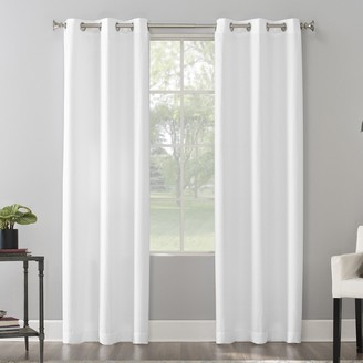 The Big One 2-pack Raiden Solid Grommet Window Curtain Set