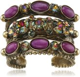 Sorrelli Braided Double Dark Multi-Stacked Ring, Size 7-9